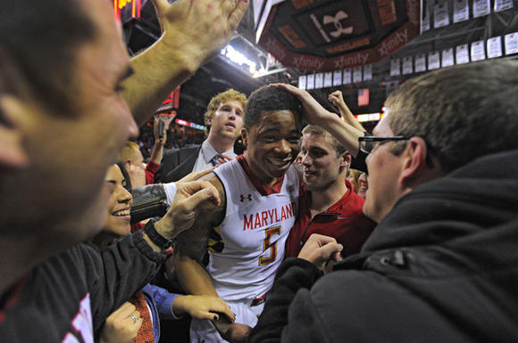 Nick Faust after Terps victory