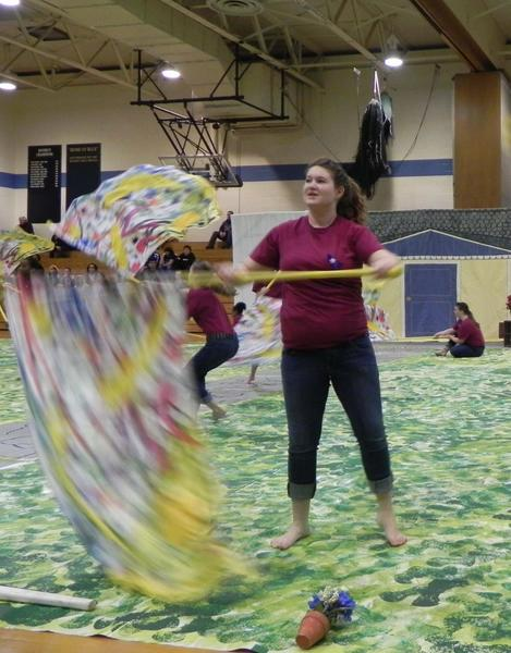 """Western Heights Middle School Indoor Guard performed """"Home is Where the Heart is,"""" during Saturday's Greencastle-Antrim 25th Annual Indoor Guard Competition."""