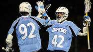 The starting attack for the Johns Hopkins men's lacrosse team got the message loud and clear.