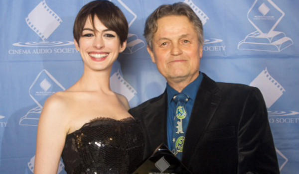 Anne Hathaway and Jonathan Demme at the Cinema Audio Society awards.