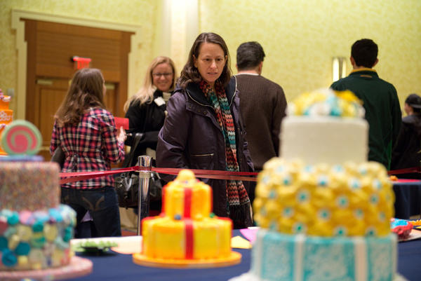 """What could be more fun than a room full of beautifully decorated cakes?"" asked Hillary Steinman of New York City. Steinman said she saw signs for the Connecticut Cake Competition after having dinner with relatives in Hartford Saturday night, and decided to bring her family to the event on Sunday."