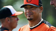 Right-hander Jair Jurrjens, who signed a minor league deal Friday, threw his first bullpen session in an Orioles uniform Sunday, mixing 45 pitches between a 20-minute session off a full mound and 10 minutes in the team's indoor batting cages throwing with hitters in the batter's box.