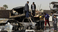 "BAGHDAD — A string of bombings in Shiite Muslim neighborhoods in eastern Baghdad left as many as two dozen people dead and reflected Iraq's <a href=""http://www.latimes.com/news/nationworld/world/middleeast/la-fg-iraq-sunnis-protest-20130214,0,1616388.story"">heightened sectarian tensions</a> in the wake of nearly two months of Sunni protests."