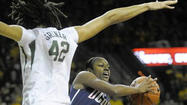— For most of her competitive life, UConn center Stefanie Dolson has looked down at her opponents. But we're talking strictly in the north to south sense.