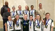 The Elmhurst Airborne 7th grade girls green team won the Libertyville Shootout tournament on February 16. Elmhurst defeated Vernon Hills 44-26, then won the semi-final 44-28 over Winnebago (IL) Lady Indians, and beat Rockford 39-31 to win the 7th grade tournament championship.