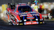 Courtney Force made it a banner day for women in U.S. motor racing Sunday by winning the funny car division of the NHRA Winternationals in Pomona.