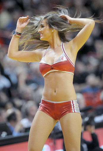 Photos: Miami Heat Dancers in action - Miami Heat Dancer works audience