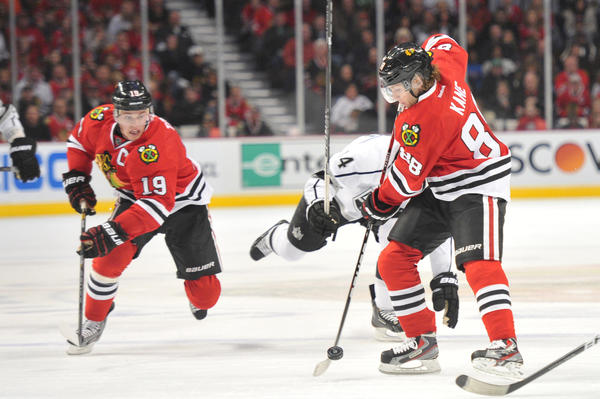 The Blackhawks are dominating the NHL right now, thanks in large part to Jonathan Toews (left) and Patrick Kane.
