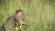 Rick (Andrew Lincoln) REALLY needs to mow his lawn...