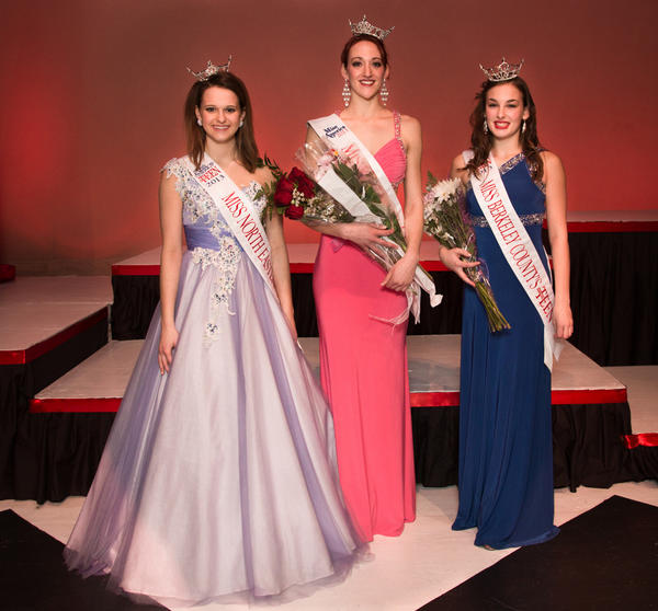 The top winners from the Miss Berkeley County Scholarship Organization's 2013 pageant Saturday at the Apollo Civic Theatre are from left - Miss North Eastern Outstanding Teen Emily Matlock, Miss Berkeley County Eliza Windle and Miss Berkeley County Outstanding Teen Megan Scarano.