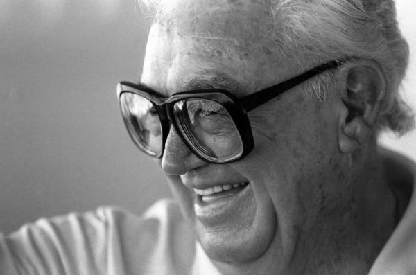 The iconic glasses of the late great Chicago baseball broadcaster Harry Caray.