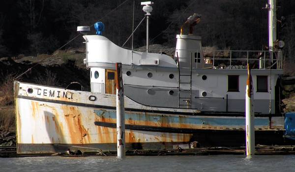 "The Gemini, which was previously named the Western Flyer, is shown in Anacortes, Wash., in 2011. The 76-foot sardine boat was featured in John Steinbeck's nonfiction novel ""Sea of Cortez."" Its owner wants to make the dilapidated vessel a hotel centerpiece in the author's hometown of Salinas."