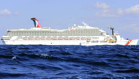 U.S. Coast Guard handout photo of the Carnival Triumph cruise ship in the Gulf of Mexico