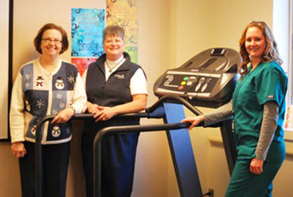 Avera St. Luke's Auxiliary recently purchased a new treadmill for behavioral health services at Avera St. Luke's with proceeds from the Christmas raffle. The winners of the raffle were Laurie Holweger, Bonnie Fischer and Jeff Steele. Pictured, from left, are Trudy Anderson and Lyla Bultema, both of Avera St. Luke's Auxiliary, and Kelli Fischer, nurse manager of behavioral health services.