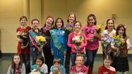 St. Mary of Gostyn Girl Scouts Make Flower Arrangement for PADS