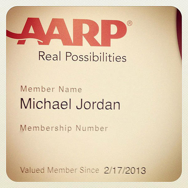Michael Jordan's AARP membership card.