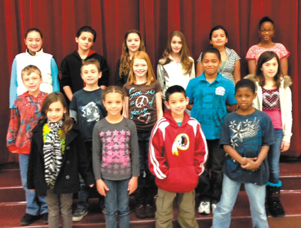 Eastern Elementary School's Students of the Month for January included: front row, from left, Amiya Hoopengarner, Katavia Jackson, Brady Foor and Dayneil Bullock. Middle row, Cory Kroboth, Avery Lipscomb, Crystal Schetrompf, Tayshaun Fulton-Powell and Rylie Parsons. Back row, Madilyn Rios, Anthony Moreno-Ventura, Sarah Peersen, Trinity Delgado, Fatima Frias and Tarin Branch. Not pictured: Breanna Short, Elizabeth McFarland, Tyler Alexander, Jamon Jones and Justin Clinesmith.