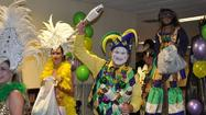 Mardi Gras' party draws a crowd