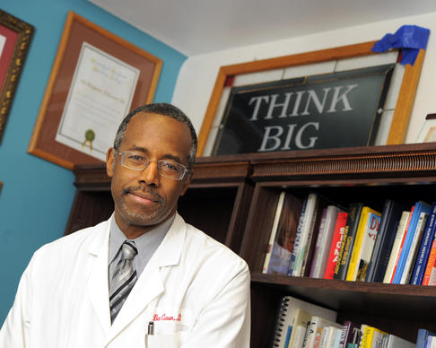 Dr. Ben Carson at Johns Hopkins.