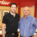 Erik Gudbranson, player with the Florida Panthers, and Peter Lahr, Director of Operations for Angelo Elia Restaurant Group