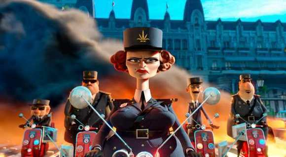 "A scene from ""Madagascar 3: Europe's Most Wanted,"" which has been a top grossing animated movie in Russia."