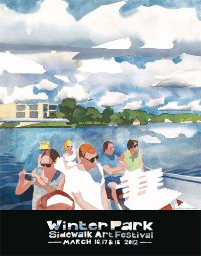The 2012 Winter Park Sidewalk Art Festival poster -- the 53rd anniversary of of the festival.