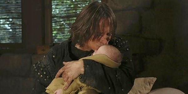 "Rumpelstilskin (Robert Carlyle) and Baelfire in ""Once Upon a Time."""