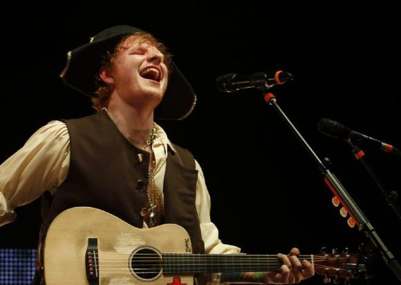 Ed Sheeran at the Nokia Theatre on Feb. 17
