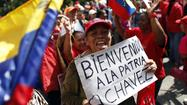 "Questions persisted Monday over how Venezuelan President Hugo Chavez was faring as supporters cheered his <a href=""http://www.latimes.com/news/world/worldnow/la-fg-wn-hugo-chavez-return-venezuela-20130218,0,574748.story"" target=""_blank"">reported return home</a> from Cuba. Even as Chavez has undergone repeated rounds of surgery and chemotherapy, the kind of cancer he is suffering and where it is located have not been revealed. Here is a brief timeline of his illness:"