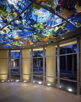 Chihuly Ceiling themed after the Persian Sea.