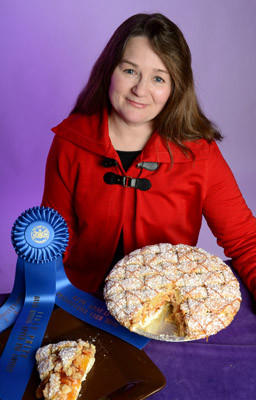 Lorrie Rauch, of New Tripoli, won first place at the PA Farm Show in Harrisburg, for her Peachy Apple Pie.