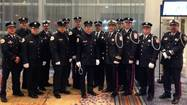 Five Des Plaines firefighters recently were inducted into the honor guard of the state fire union.