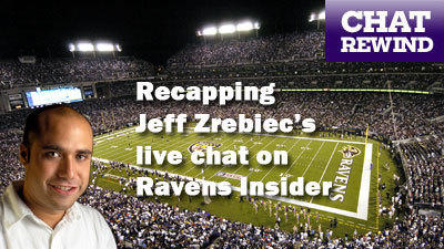 Live Ravens chat with Jeff Zrebiec at noon Tuesday