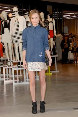 Actress Kate Bosworth attends Topshop L.A. grand opening at the Grove.