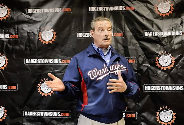 Former Hagerstown Mayor Robert E. Bruchey II talked Monday about his new role as interim general manager of the Hagerstown Suns for 2013.