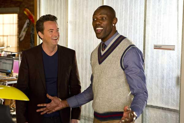 "When he needs an assistant, Ryan (Matthew Perry, left) hires Terrell Owens (appearing as himself) on a new episode of ""Go On,"" airing at 9 p.m. on NBC."