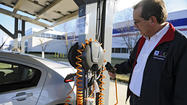 Workplaces offer electric car charging for employees