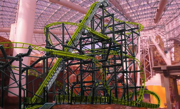 This artist's rendering shows El Loco, the roller coaster that's set to open in December in Las Vegas.