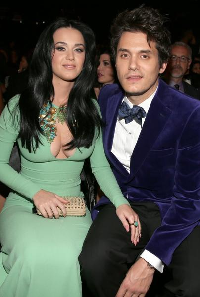 Katy Perry and beau John Mayer at this year's Grammy Awards.