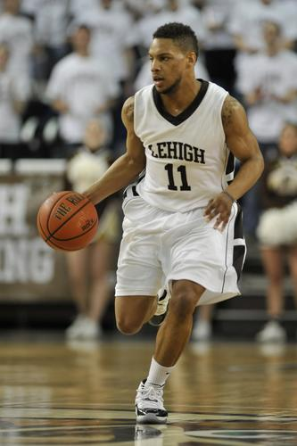 Lehigh's Mackey McKnight breaks fast. The Lehigh University Mountain Hawks played against the Bucknell University Bison in patriot league basketball Monday, February 18, 2013 at Stabler Arena on the campus of Lehigh University in Bethlehem.