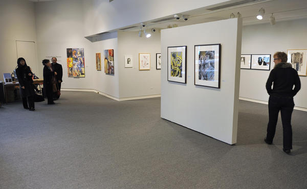 Printmaker, artist and professor Curlee Raven Holton exhibit his work Monday, February 18, 2013 in the Williams Center at Lafayette College in Easton.