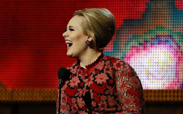 Adele at the recent Grammy Awards.