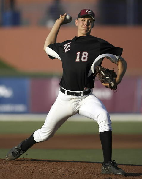Dustin Hagy, shown here in the Class 2A state semifinal in 2012, helped Deltona Trinity Christian to a 1-0 win over Father Lopez on Monday. (Jon Way/ Special to the Sentinel)