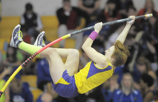 Smithsburg's Emma Gerhold won the Class 1A girls pole vault Monday in Landover, Md.