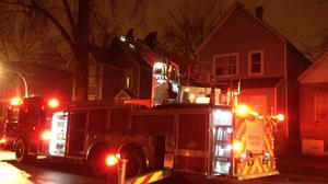 Woman injured after jumping from Englewood fire