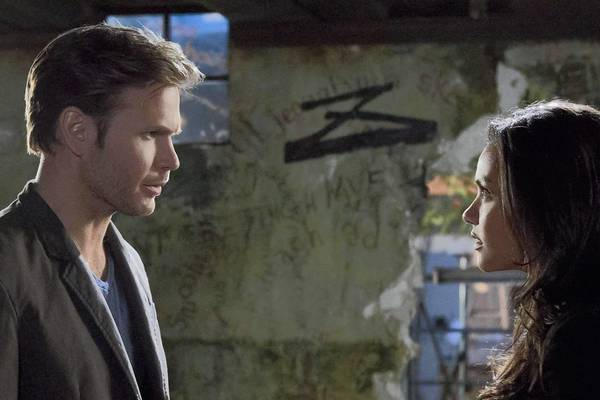 "Matthew Davis and Jessica Lucas star in ""Cult."""