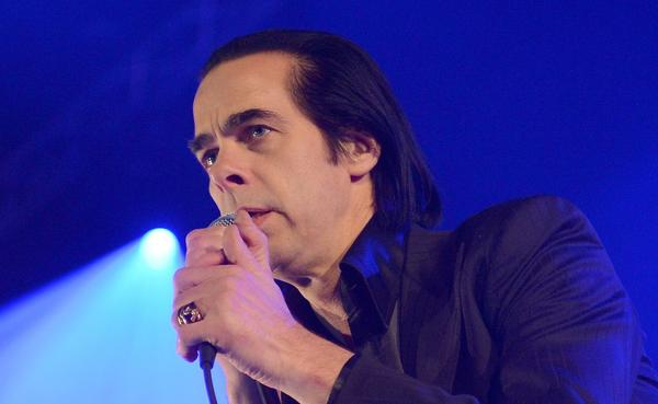 Australian musician Nick Cave performs with his band The Bad Seeds in Berlin.
