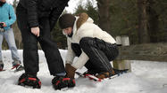 Pictures: Snowshoeing At Winding Trails In Farmington
