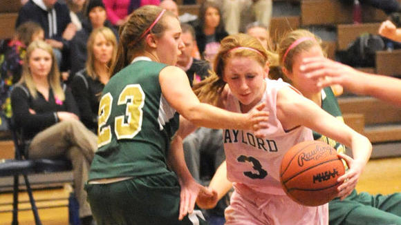 Gaylord¿s Mackenzie Edwards scored 25 points in the Blue Devils' 41-27 victory against Traverse City West Friday.