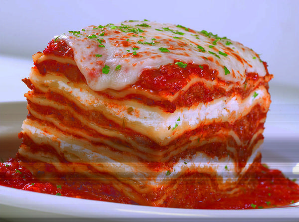 Lasagna at Buca di Beppo in Boynton Beach.
